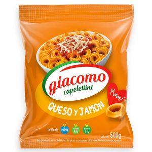 "Capelettini ""GIACOMO"" Queso y Jamon x 500 gr"