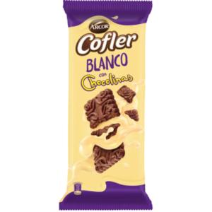 "Chocolate Blanco con Chocolinas ""COFLER"" x 100 grs"