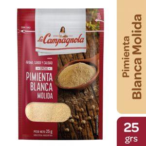 """Pimienta Blanca Molida """"LA CAMPAGNOLA"""" x 25 grs"""