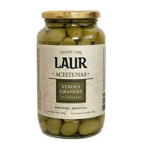 """Aceitunas Verdes Grandes """"LAUR"""" x 320grs"""