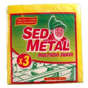"""Paño Multiuso """"SED METAL"""" x 3u"""