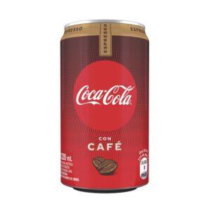 """Gaseosa """"COCA COLA"""" Con Cafe sin azúcar lata x 220 ml"""